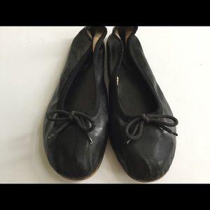 Black Sz 8 ballet flats shoes women's